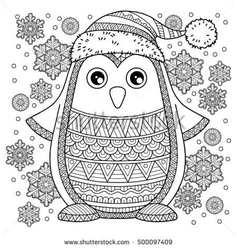 merry coloring books for adults a beautiful colouring book with designs gift for books draw vector seamless pattern stock vector