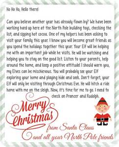 on the shelf letter from santa a s take
