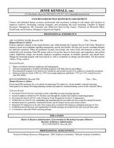Resume Sle For Human Resources Sle Human Resources Resume 28 Images Coordinator Of Benefits And Services Resume Sle Hr