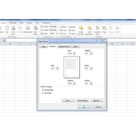 page layout excel mac change page margins to wide in excel 2010 without changing