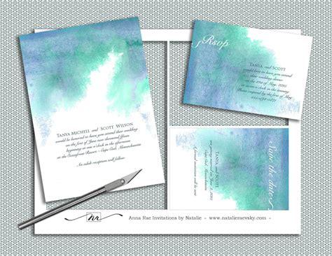 printable wedding invitations watercolor diy watercolor wedding invitation suite printable by nraevsky