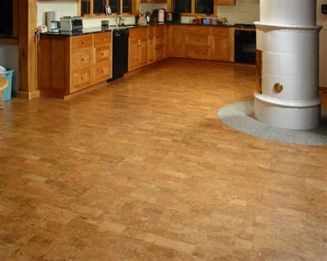 Lovable Kitchen Design With Cork Flooring Ideas For Big Cork Kitchen Flooring