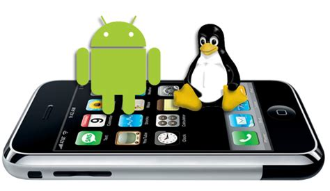 linux on android smartphone un iphone corriendo el sistema operativo android