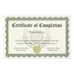 Customizable Certificate Templates by Certificate Of Completion Customizable Flyer Zazzle