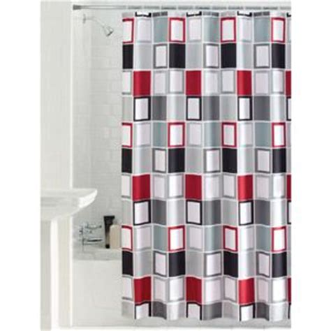 red black and grey curtains mainstays aperture fabric shower curtain pretty dark gray