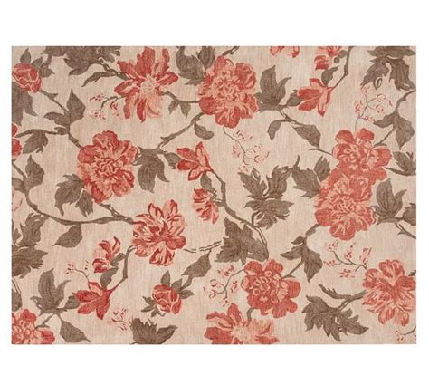 Pottery Barn Floral Rug by Kismet Tufted Floral Rug Ivory Neutral Pottery Barn