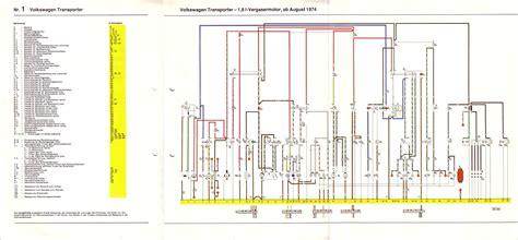 Baduras Volkswagen T2 Bulli Seite Stromlaufpl 228 Ne