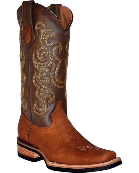 mens ferrini boots ferrini s calf leather cowboy boot square toe