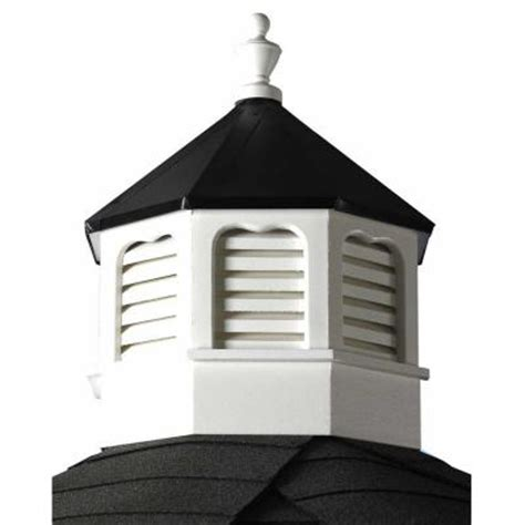 Octagonal Cupola Homeplace Structures Vinyl Octagon Cupola With Black Metal