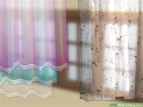 ways to hang voile curtains 4 ways to hang voile wikihow