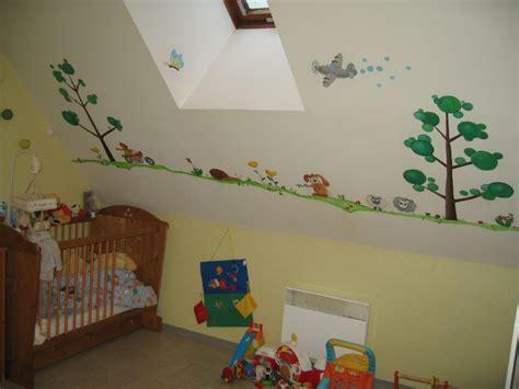 chambre d enfants frise de petits animaux arts et peintures