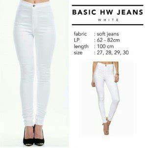 Celana Putih Cewek Wanita jual celana panjang hw soft putih celana wanita