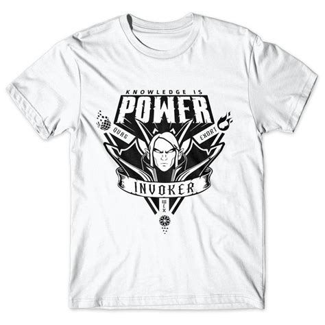 Kaos Gamer Distro Your Time Will Come Hitam Limited Edition invoker knowledge is power dota 2 chicken garment