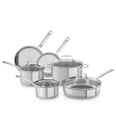 Kitchenaid 10 Cookware Set by Kitchenaid Stainless Steel 10 Cookware Set Dillards