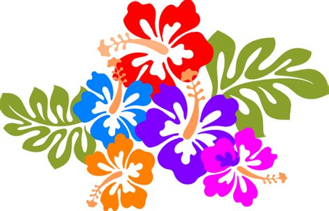 printable luau flowers hawaiian clip art free printables free clipart 2 clipartix