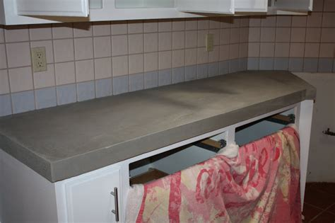 How To Install New Kitchen Cabinets remodelaholic quick install of concrete countertops
