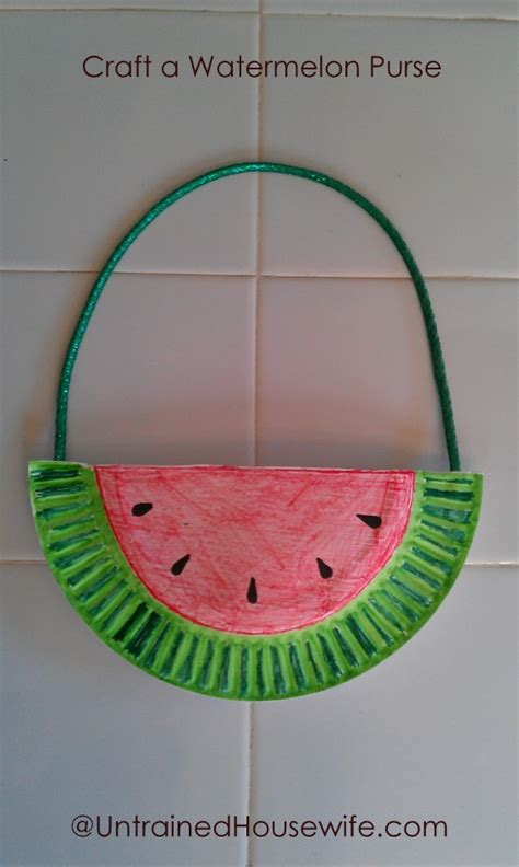 Paper Purse Craft - paper plate craft