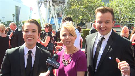 icarly cast and crew the cast of icarly on the 65th creative arts emmys red