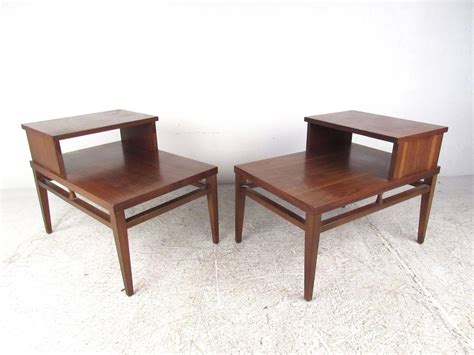mid century modern end tables mid century modern two tier end tables by for sale at 1stdibs
