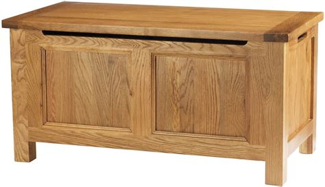 Traditional Solid Oak Ottoman Blanket Box