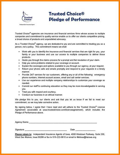 Commitment Letter Sle Business pledge letter template 28 images sending pledge