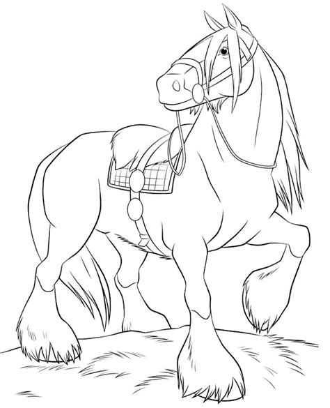 cutting horse coloring page image for breyer horse coloring pages crafts pinterest