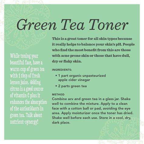 Toner Viva Green Tea green tea toner recipe for beautiful skin especially