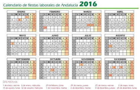 Calendario Laboral 2016 Calendario Laboral Andalucia 2016