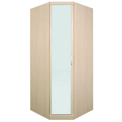 strata corner wardrobe with mirror bedroomfurnitureworld