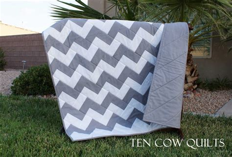 Charcoal Grey Quilt by Charcoal Gray Chevron Quilt Blanket Cot Throw Size