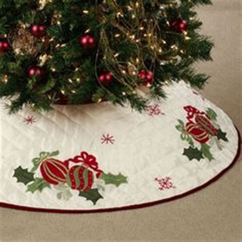 tree with skirt quilted ornaments tree skirt