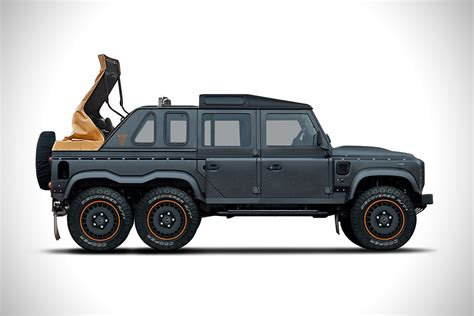 land rover defender 2017 6x6 kahn design 6x6 flying huntsman soft top is a custom 6