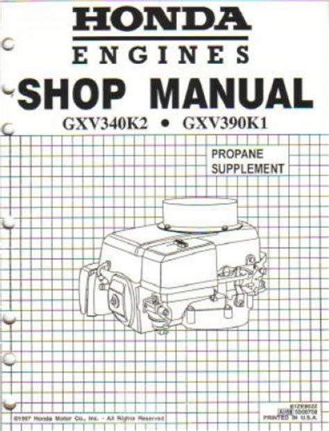 small engine service manuals 1984 honda cr x navigation system honda gxv340 engine shop manual
