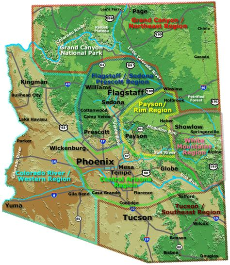 arizona rv parks map arizona cground map