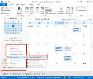 Where Is Calendar In Outlook 2013 View Other S Calendar In Outlook 2013
