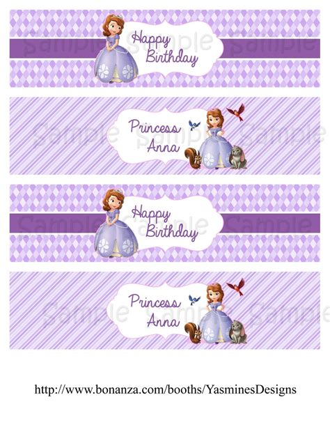 sofia the water bottle labels sofia the water bottle labels and 50 similar items