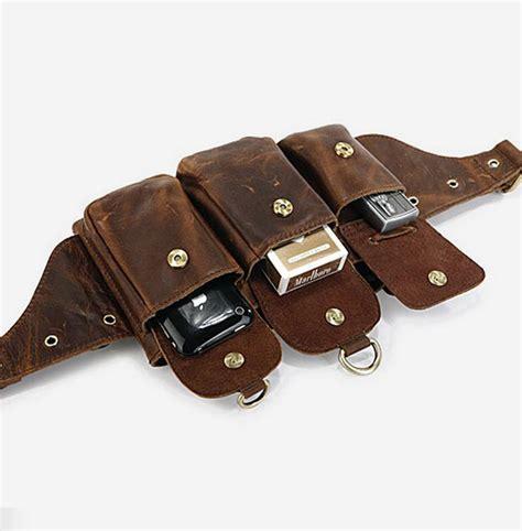 genuine leather belt bag rugged leather briefcase