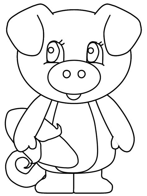 cartoon pig coloring pages coloring home