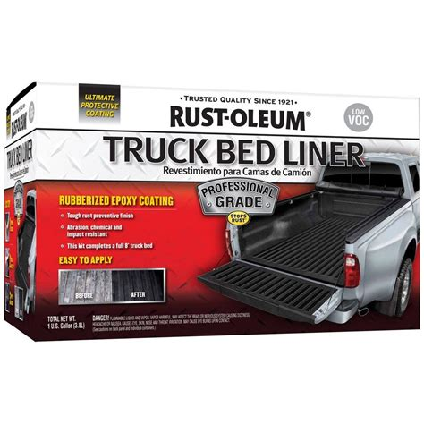 rustoleum bed liner rust oleum automotive 1 gal low voc professional grade