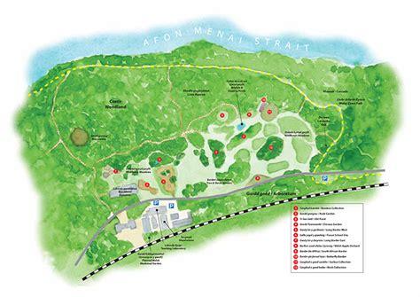 Botanic Garden Map Map Of Treborth Botanic Garden Treborth Botanic Garden Bangor