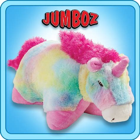 Rainbow Unicorn Pillow Pet by Pillow Pets 174 Jumboz Rainbow Unicorn 30