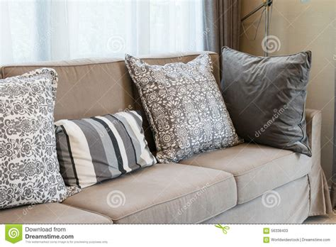 grey patterned couch sturdy brown tweed sofa with grey patterned pillows