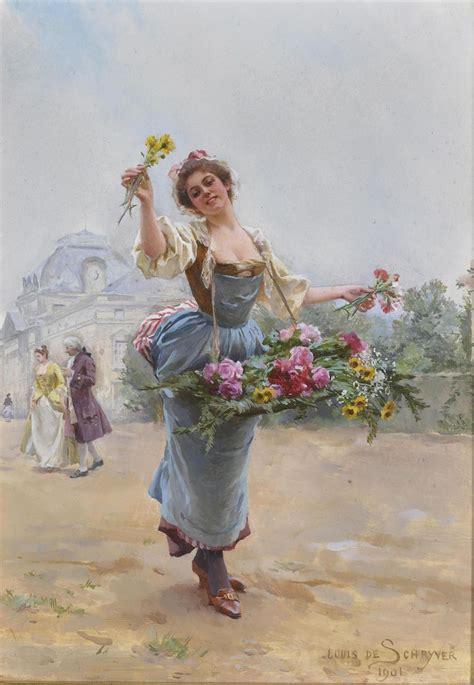 louis marie de schryver    flower seller