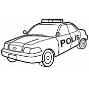 Polis Araba Boyama  Sayfa