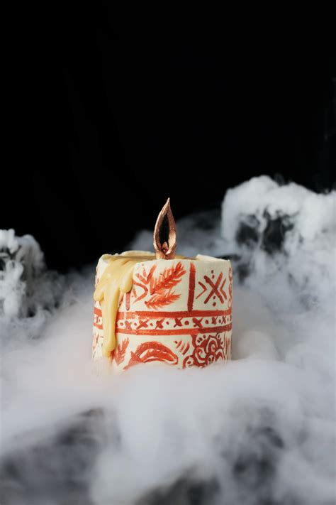 Gold Candles Hocus Pocus by Chocolate And Pumpkin Black Candle Cake
