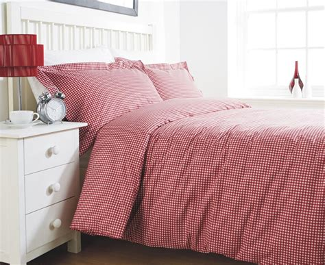gingham bedding bed linen king size duvet cover - Bed Linen King Size