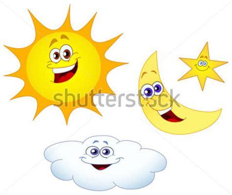 estrella del sol de la luna en c 237 rculo del arco iris el sol luna estrella y nube vectores en stock vectorhq com
