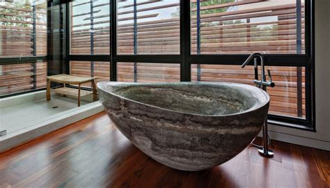 rock bathtub 30 stone bathtubs that will rock your bathroom