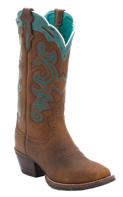 justin silver boots justin silver collection brown buffalo with