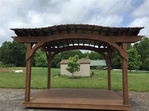 arch shed 10 215 12 arch pergola with roof floor tennessee pergolas